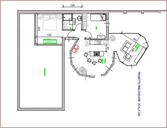 progetto trasformazione ufficio in appartamento